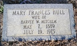 Mary Frances Mamie <i>Hull</i> Mitchem