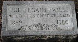 Juliet <i>Gantt</i> Wills