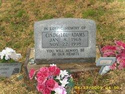 Cindy Lou <i>Higginbotham</i> Adams