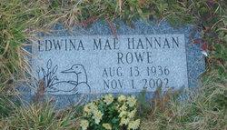 Edwina Mae <i>Hannan</i> Rowe
