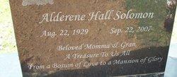 Alderene Hall Solomon