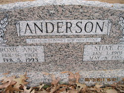 Roxie Ann <i>Timmons</i> Anderson