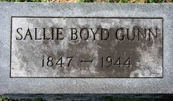 Sallie <i>Boyd</i> Gunn