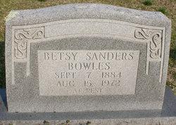 Betsy <i>Sanders</i> Bowles