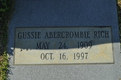 Gussie <i>Abercrombie</i> Rich