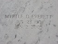 Myrtle D Everett