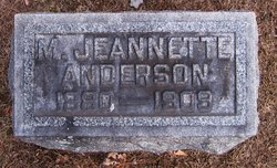 Mary Jeanette <i>Fryberger</i> Anderson