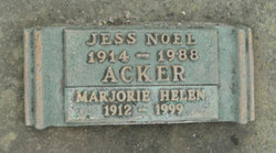 Marjorie Helen <i>Jackson</i> Acker