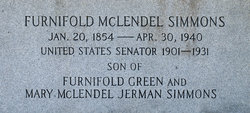 Furnifold McLendel F.M. Simmons