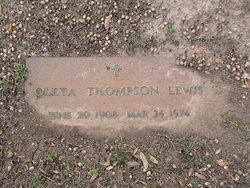 Oleta <i>Thompson</i> Lewis
