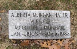 Alberta <i>Morgenthaler</i> Dunham