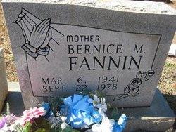 Bernice M Fannin