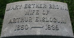 Mary Esther <i>Brown</i> Slocum