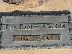 Irma <i>Fowler</i> Adamson