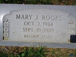 Mary J Rooks