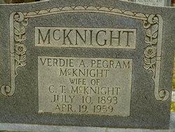 Alma Verdie <i>Pegram</i> McKnight