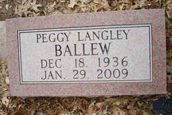 Peggy Jean <i>Langley</i> Ballew