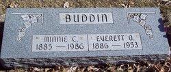Minnie Catharine Barbara <i>Loebel</i> Buddin