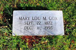 Mary Lou <i>Middlebrooks</i> Cox