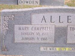 Mary <i>Campbell</i> Allen