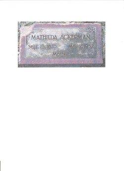 Matilda <i>Westergren</i> Ackerman