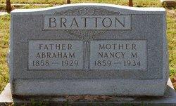 Nancy Mariah Nanny <i>Holliday</i> Bratton