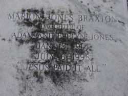 Marion <i>Jones</i> Braxton