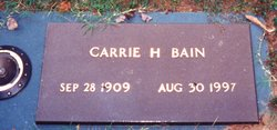 Carrie <i>Harrison</i> Bain