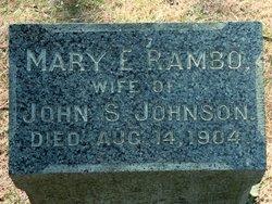 Mary E. <i>Rambo</i> Johnson