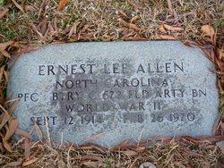 PFC Ernest Lee Allen