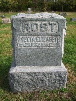 Fyetta Elizabeth <i>Troxel</i> Rost