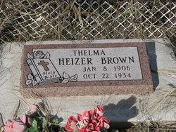 Thelma <i>Heizer</i> Brown