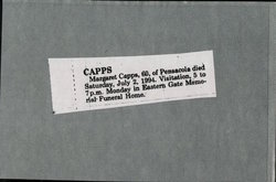 Margaret J. <i>Wood</i> Capps