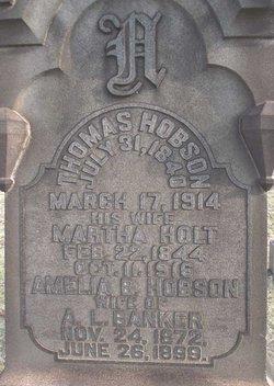 Martha <i>Holt</i> Hobson