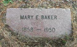 Mary E. <i>Rhoades</i> Baker