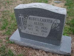 Ruby L <i>Carter</i> Allen