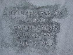 Henrietta <i>Womack</i> Barnes