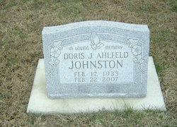 Doris J. <i>Ahlfeld</i> Johnston