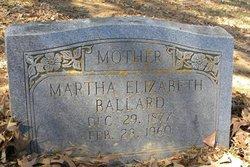 Martha Elizabeth <i>Thacker</i> Ballard
