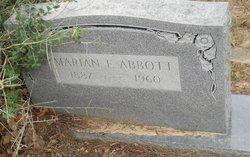 Marian E Abbott