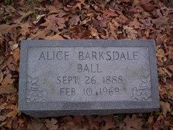 Alice Edna Barksdale <i>Johnston</i> Ball