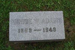 Martha Evangeline Minnie <i>Warner</i> Adams