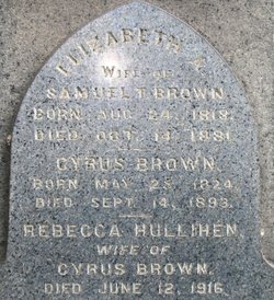 Rebecca <i>Hullihen</i> Brown