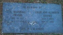 Lillie Ann <i>Allwhite</i> Franks