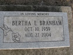Bertha Louise <i>Coan</i> Branham