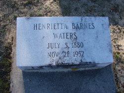 Henrietta <i>Barnes</i> Waters
