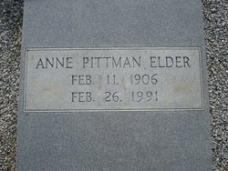 Anne <i>Pittman</i> Elder