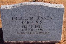 Lola Dean <i>McKennon</i> Cress