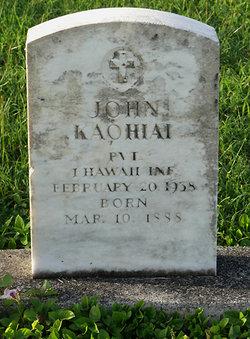 John Kaohiai