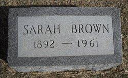 Sarah Jane <i>Collings</i> Brown